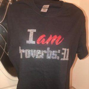I AM PROVERBS:31 Black T-shirt Sz Select Below
